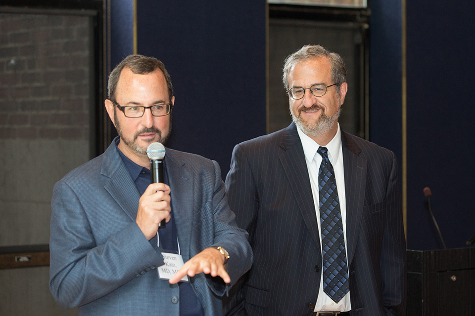 Dr. Katz welcomes University of Michigan President Mark Schlissel to the 2014 CanSORT National Partners Retreat.